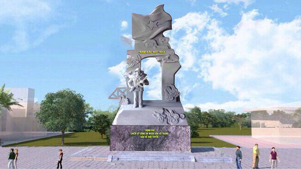 Quảng Trị: Khánh thành công trình Tượng đài chiến sĩ CAND bảo vệ giới tuyến